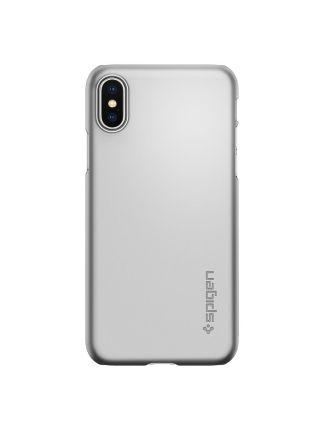 Чехол Spigen для iPhone X/XS Thin Fit, Satin Silver