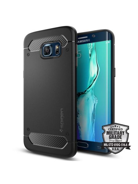 Чехол Spigen Rugged Armor для Galaxy S6 Edge+, Black