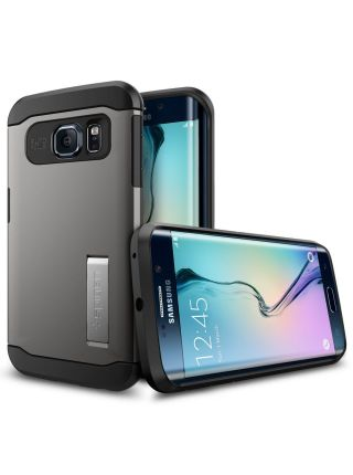Чехол SGP Slim Armor для Galaxy S6 Edge, Gunmetal