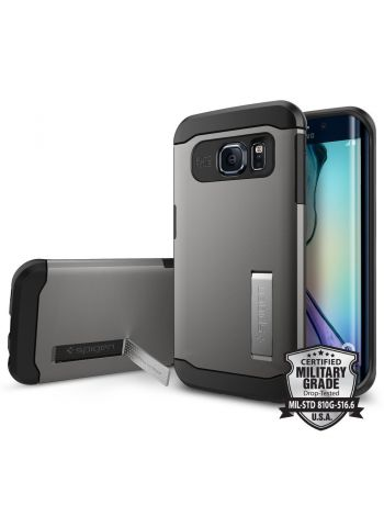 Чехол SGP Slim Armor для Galaxy S6 Edge, Gunmetal , SGP11423