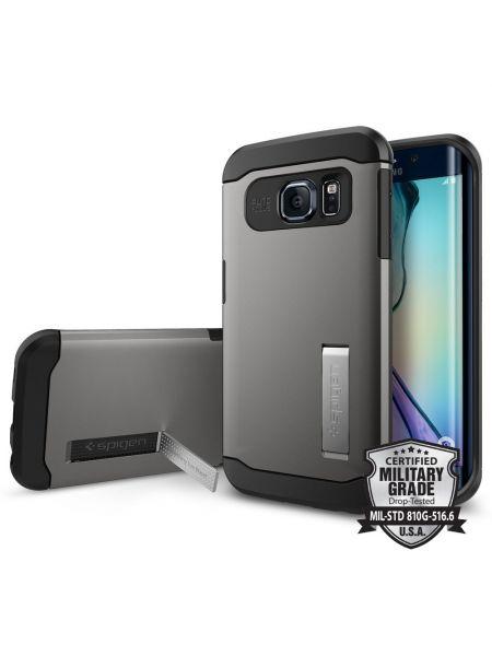 Чехол SGP Slim Armor для Galaxy S6 Edge, Gunmetal