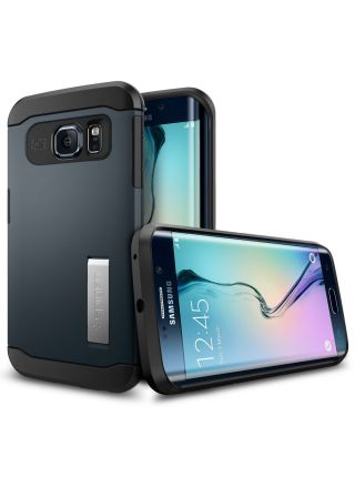 Чехол SGP Slim Armor для Galaxy S6 Edge, Metal Slate