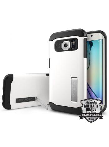 Чехол SGP Slim Armor для Galaxy S6 Edge, Shimmery White, SGP11424