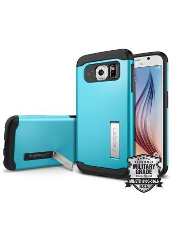 Чехол SGP Slim Armor для Galaxy S6, Blue Topaz , SGP11327