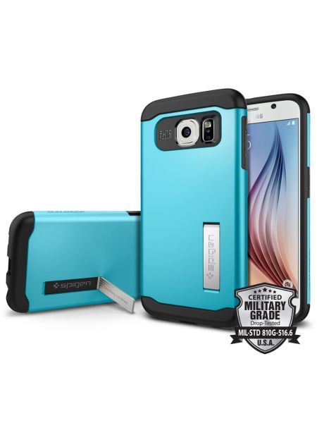 Чехол SGP Slim Armor для Galaxy S6, Blue Topaz