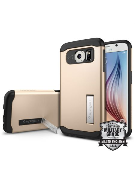 Чехол SGP Slim Armor для Galaxy S6, Champagne Gold