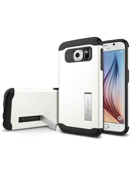 Чехол SGP Slim Armor для Galaxy S6, Shimmery White