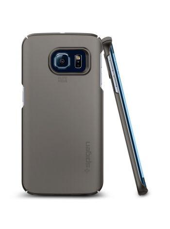 Чехол Spigen Thin Fit для Galaxy S6 Edge, Gunmetal , SGP11564