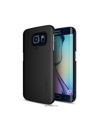 Чехол Spigen Thin Fit для Galaxy S6 Edge, Smooth Black