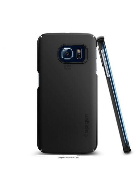 Чехол Spigen Thin Fit для Galaxy S6 Edge, Smooth Black