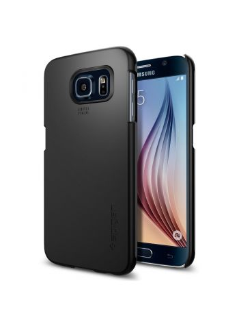 Чехол Spigen Thin Fit для Galaxy S6, Smooth Black , SGP11308