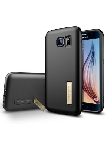 Чехол Spigen Capsule Solid для Samsung Galaxy S6, Black, SGP11436