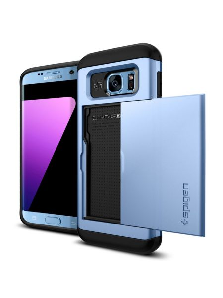 Чехол Galaxy S7 Edge Slim Armor CS, Blue Coral