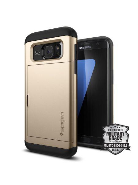 Чехол Galaxy S7 Edge Slim Armor CS, Champagne Gold