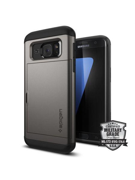 Чехол Galaxy S7 Edge Slim Armor CS, Gunmetal