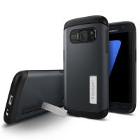 Galaxy S7 Case Slim Armor, Metal Slate