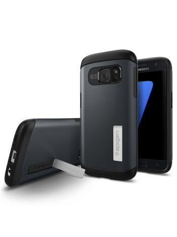 Galaxy S7 Case Slim Armor, Metal Slate, 555CS20024
