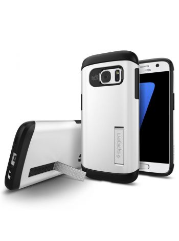 Galaxy S7 Case Slim Armor, Shimmery White, 555CS20013