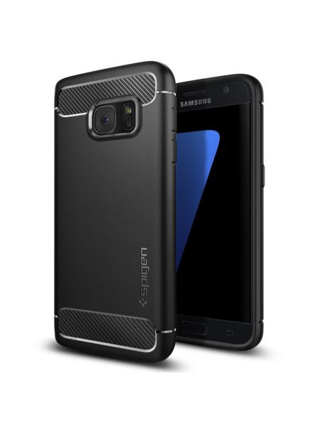 Чехол Spigen Rugged Armor для Galaxy S7, Black