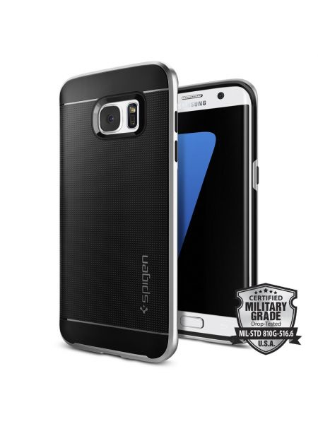 Чехол Spigen Neo Hybrid для Samsung Galaxy S7 Edge, Satin Silver