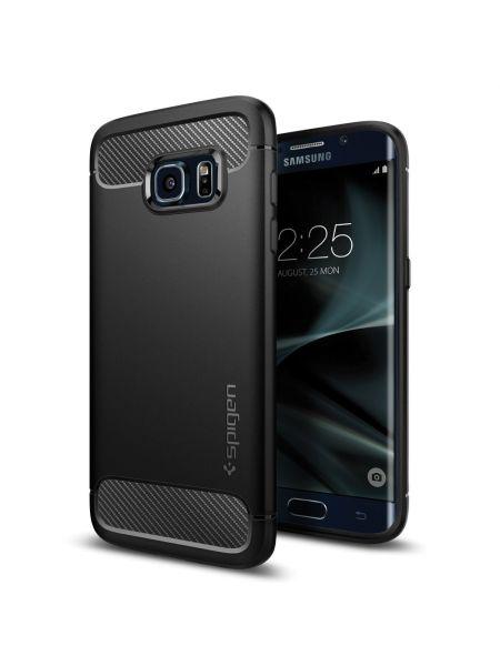 Чехол Spigen Rugged Armor для Galaxy S7 Edge, Black