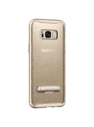 Чехол Crystal Hybrid Glitter Galaxy S8 Plus, Gold Quartz