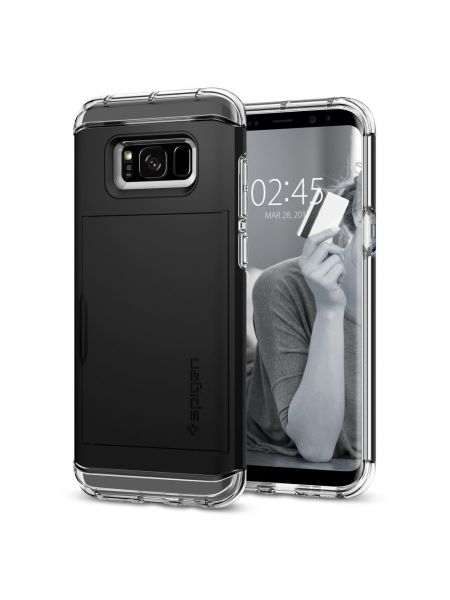 Чехол Crystal Wallet Galaxy S8 Plus, Black
