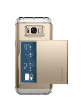 Чехол Crystal Wallet Galaxy S8 Plus, Gold