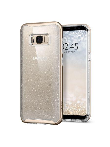 Чехол Galaxy S8 Neo Hybrid Crystal Glitter, Gold Quartz