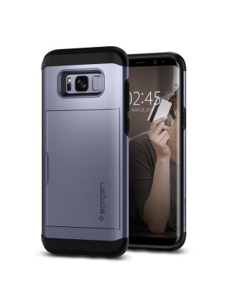 Чехол Spigen Slim Armor CS Galaxy S8 , Orchid Gray