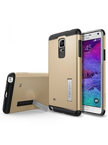 Чехол SGP Slim Armor для Galaxy Note 4, Shampagne Gold, SGP11126