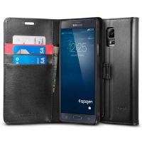 Чехол Spigen Wallet S для Samsung Galaxy Note 4, Black