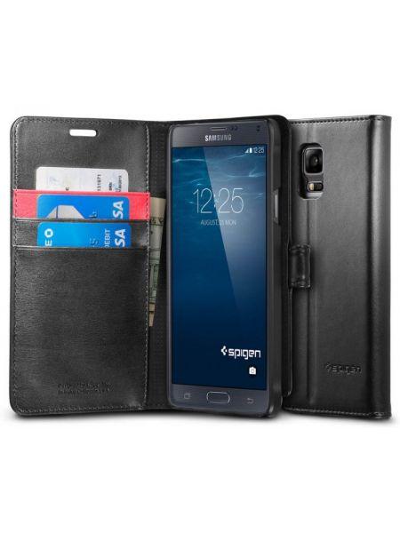 Чехол Spigen Wallet S для Samsung Galaxy Note 4, Black
